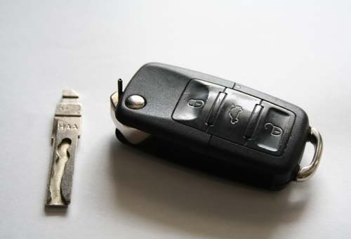 Broken key shell immobilizer key
